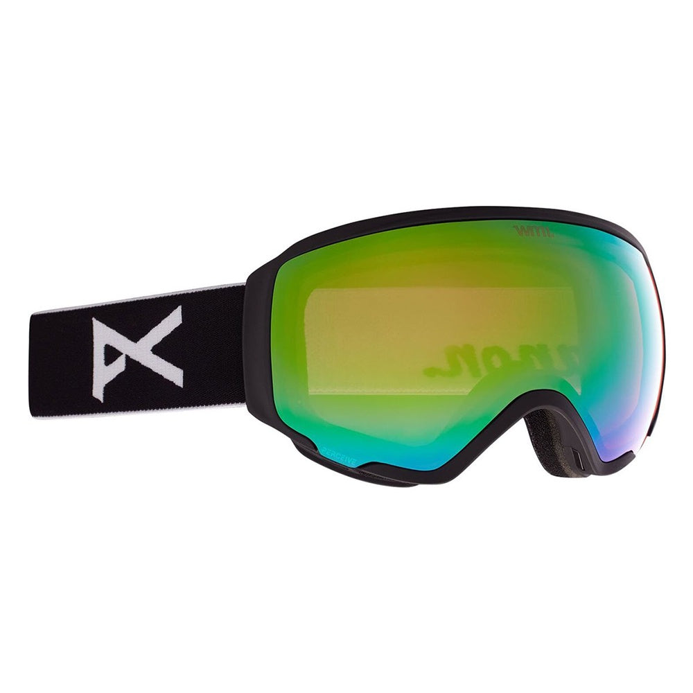 Anon WM1 Goggle + Bonus Lens + MFI® Face Mask - Black / Perceive Variable Green