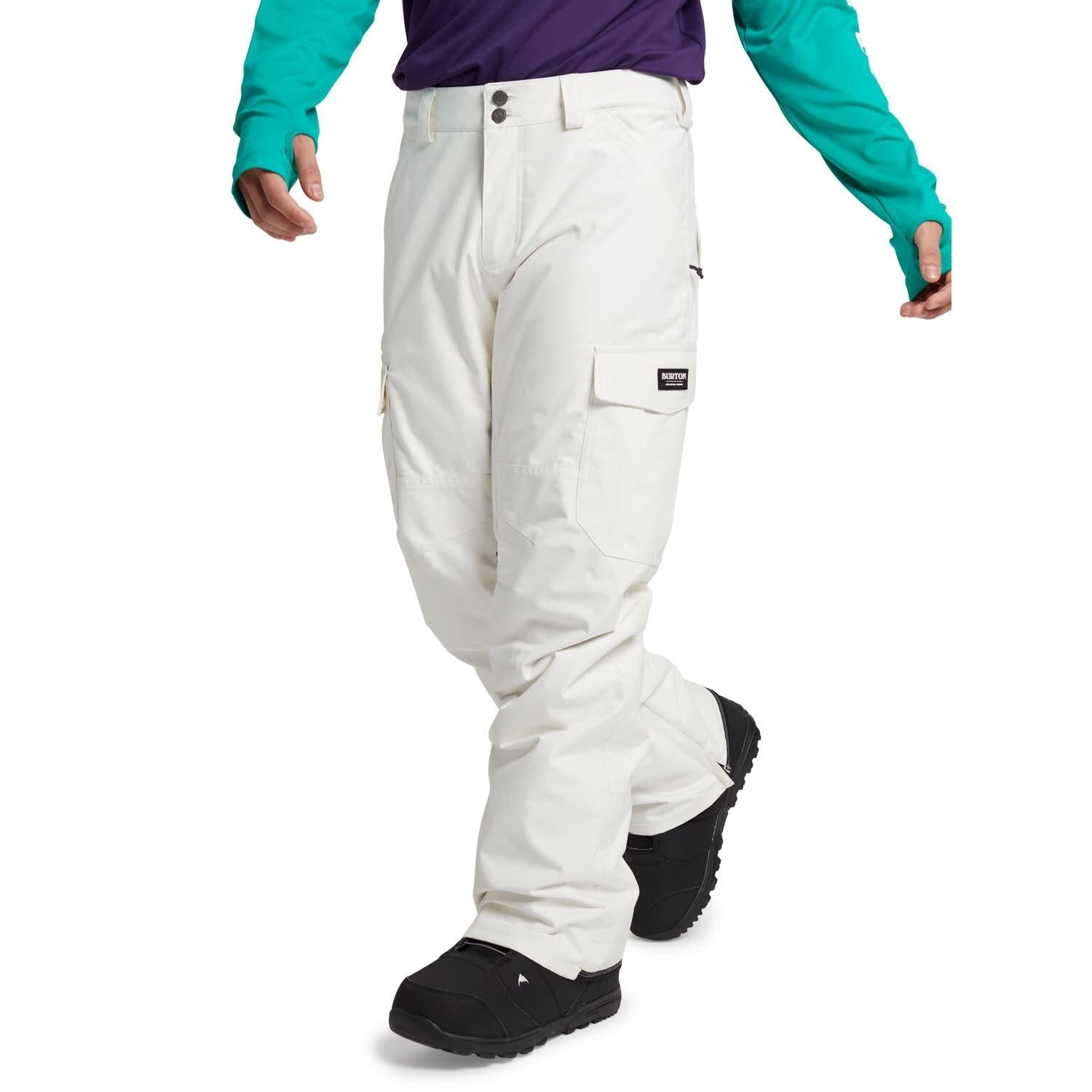 Burton Men's Cargo Pant - Relaxed Fit - Stout White