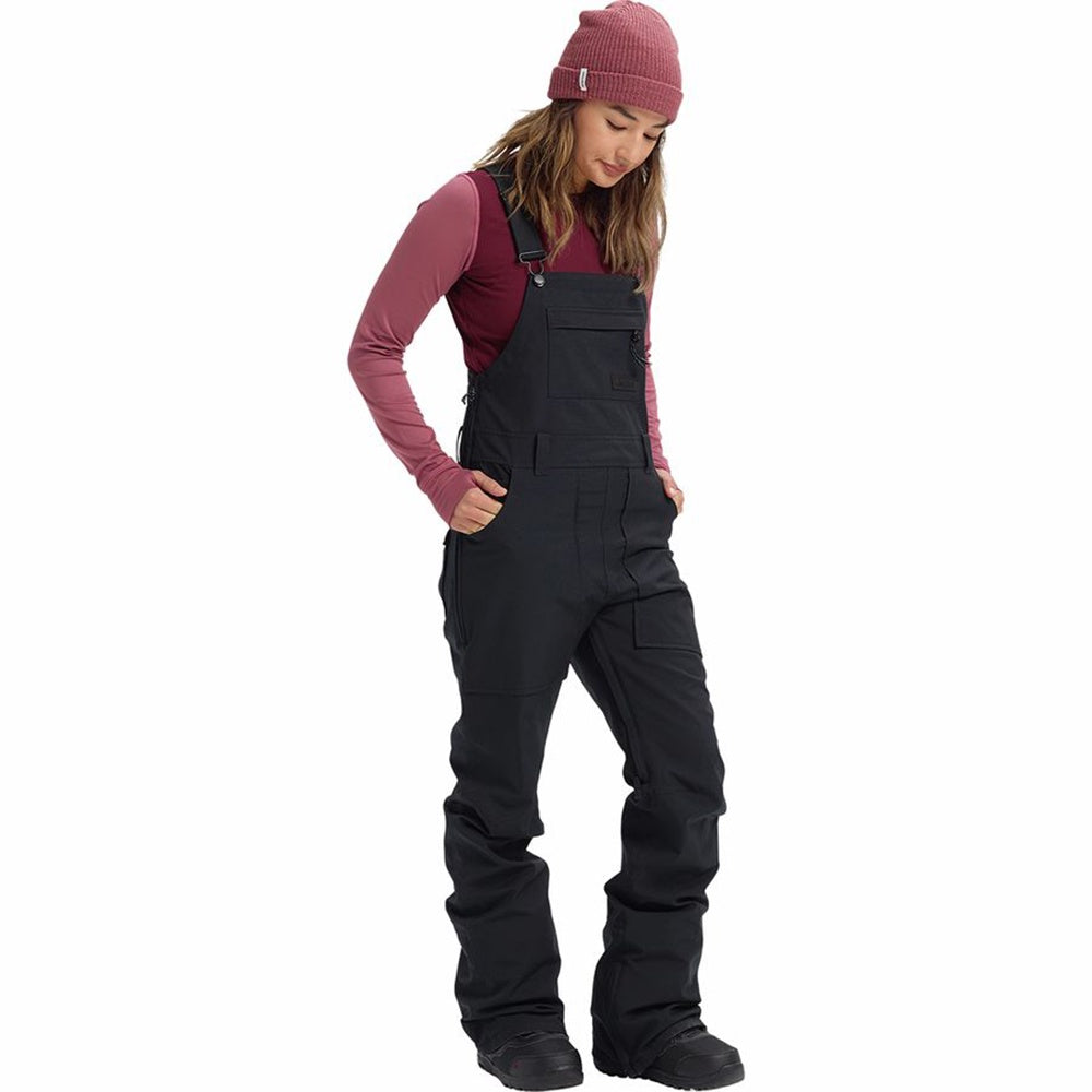 Burton Women's Avalon Bib Pant - Short - True Black