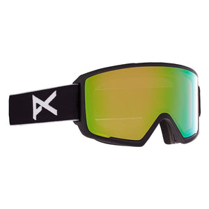 Anon M3 Goggle + Bonus Lens + MFI® Face Mask - Black / Perceive Variable Green