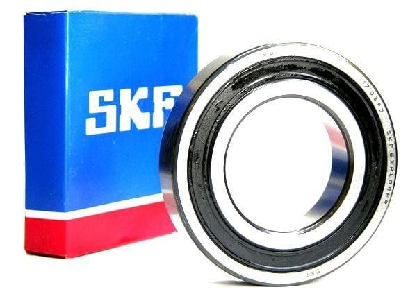 6201-2RS SKF, 12mm I.D. X 32mm O.D. X 10mm Wide Sealed Radial Ball Bearing