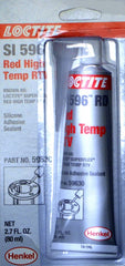 Loctite Si 596 Rd Red High Temp Rtv Silicone Adhesive Sealant Part# 59630 - Adhesive