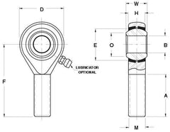5/8 (0.625) Male Rod End