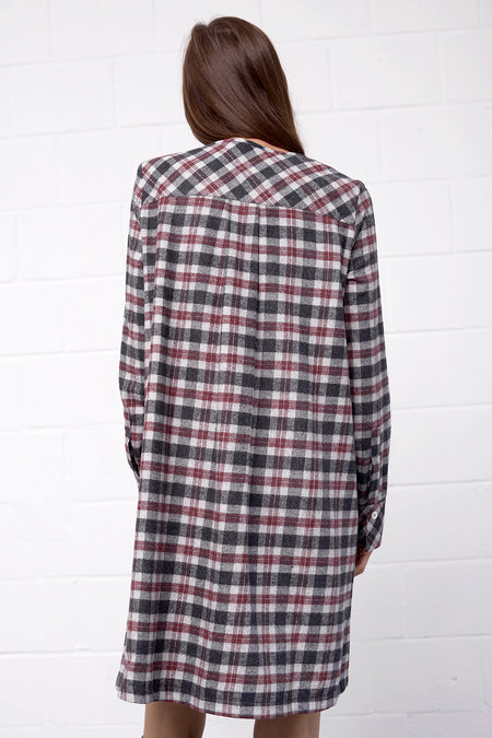 Acolina Dress - antracite - PREGO - made with love - Damenmode