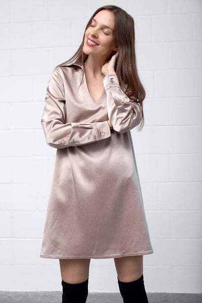 Adimona 603 Dress - taupe - PREGO - made with love - Damenmode