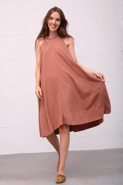 Adorina Leinen Dress - blush