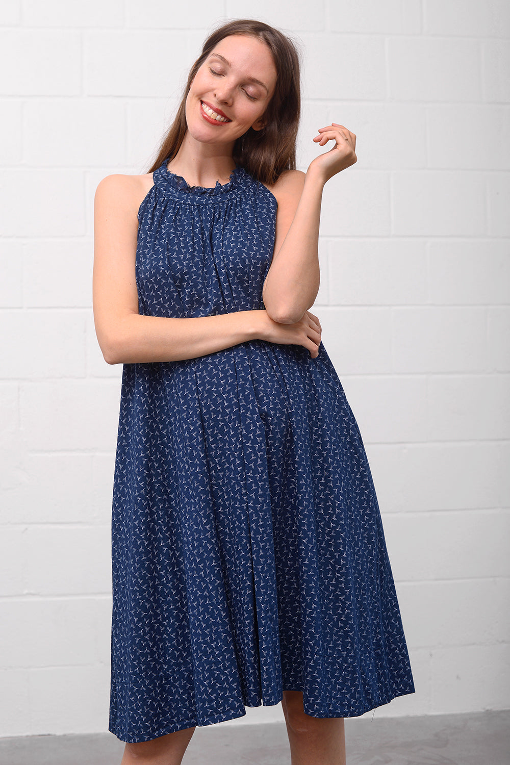Adorina Dress - indigo