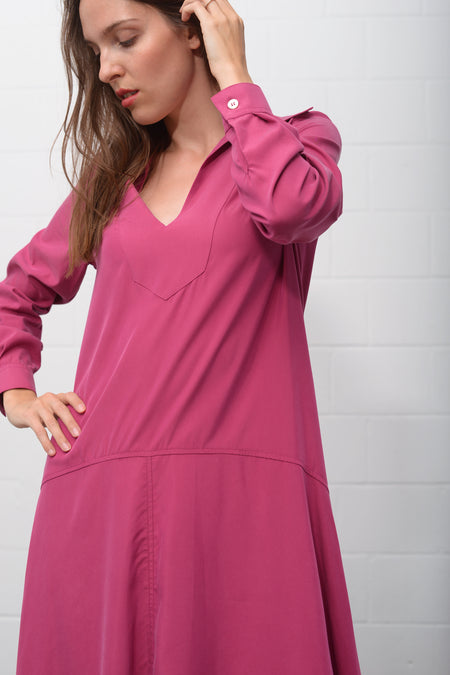 Albeni Dress - fuxia