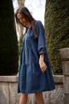 Alfia Dress - indigo