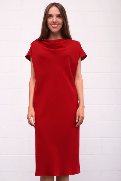 Aquisa Dress - cherry