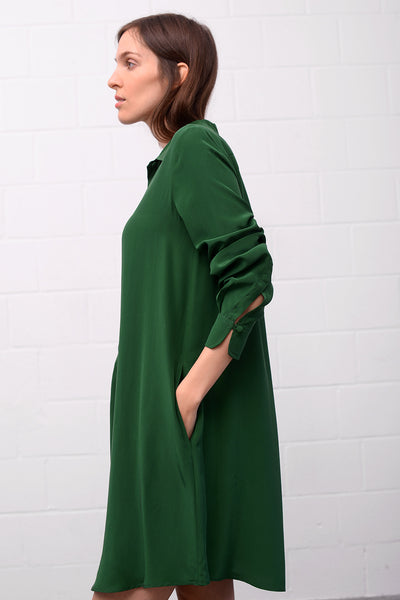 Asetal Silk Dress - wald