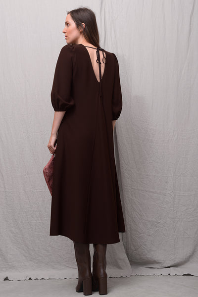 Asia 033 Dress - brown