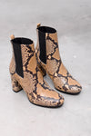 Bambi Pit Stamp Boots - natural