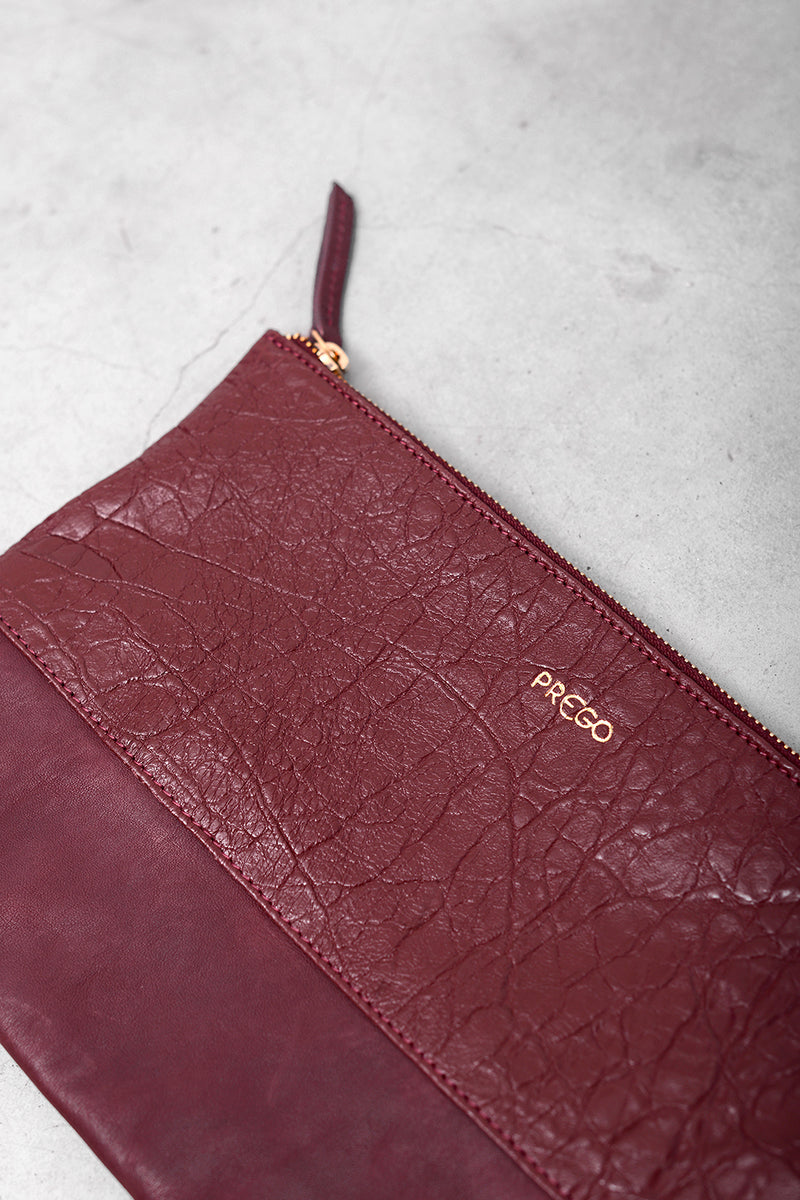 Bibi Vcro Stamp Bag - bordo