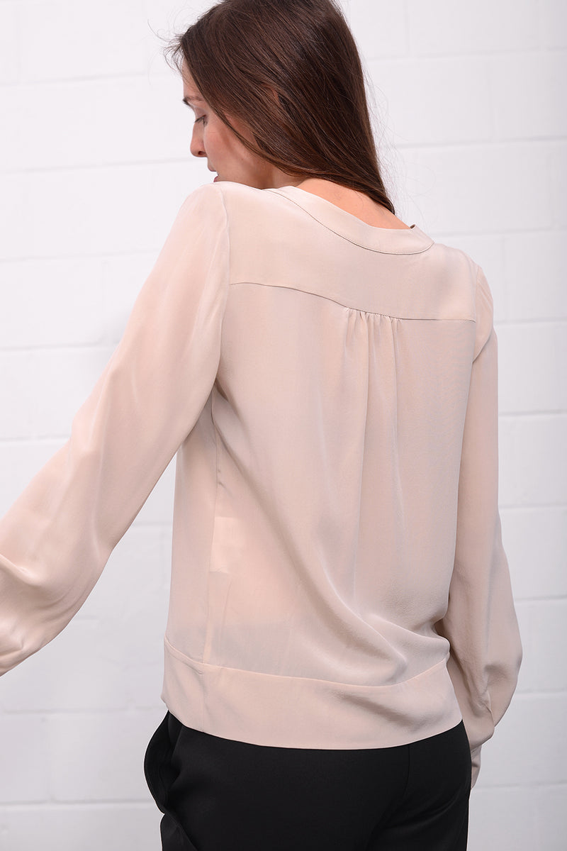 Cacigan Silk Blouse - nudo