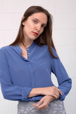 Camille Silk Blouse - heaven