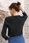 Camille Silk Blouse - nero