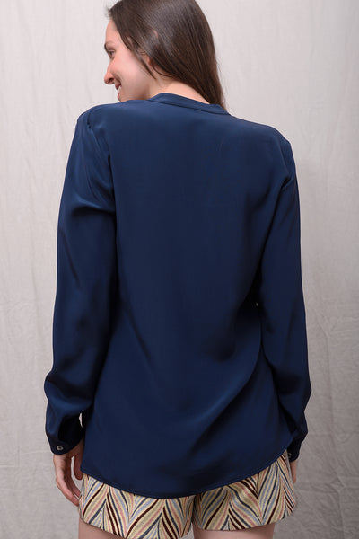 Camille Silk Blouse - notte