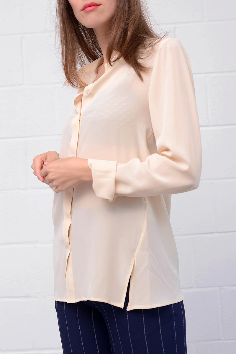 Camille Silk Blouse - oat