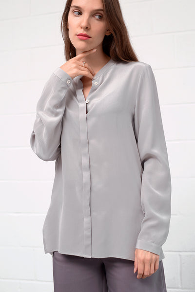 Camille Silk Blouse - pearl