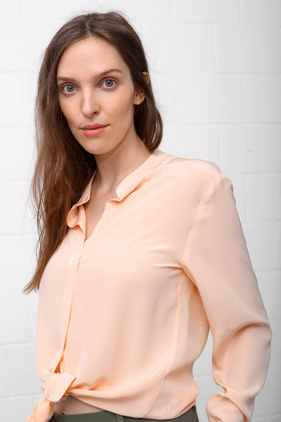 Camille Silk Blouse - rose