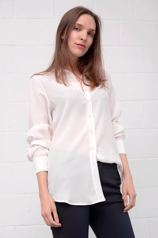 Casella Silk Blouse - latte