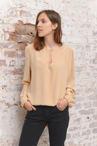 Casivo Silk Blouse - oro