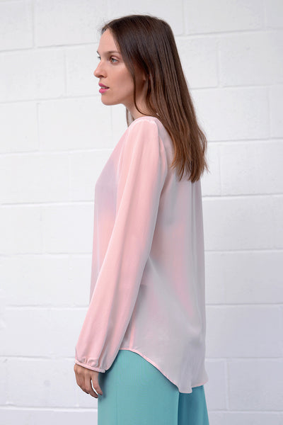 Casivo Silk Blouse - rose