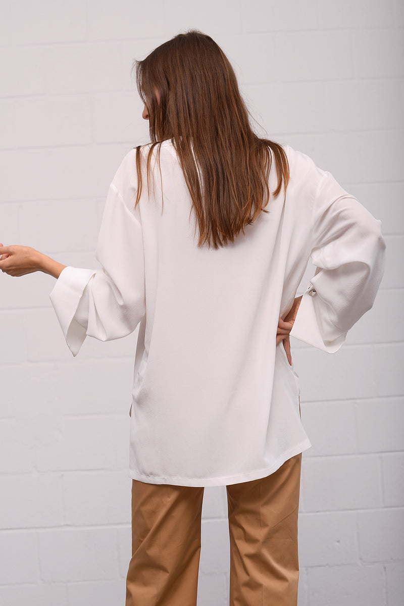 Cemba Silk Tunic - latte
