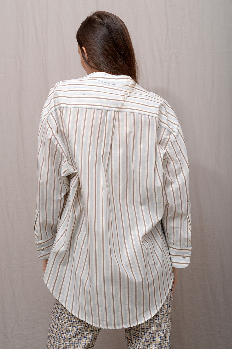 Claude Blouse - clear stripe