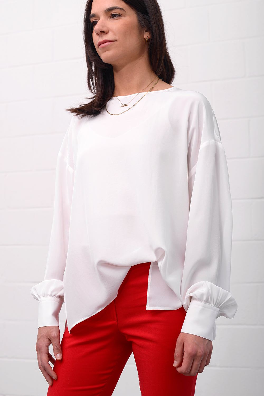 Contess Silk Blouse - bianco