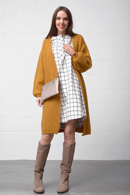 Costanze Cardigan - mustard