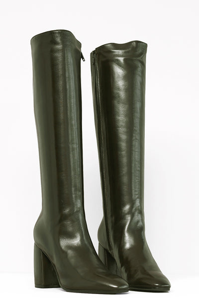 Dagmar Nap Boots - oliva - PREGO - made with love - Damenmode