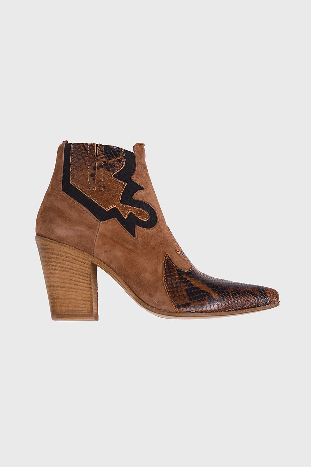 Dallas Pit Stamp C Boots - hazel