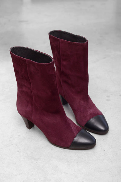 Ekarly Cam Boots - bordo nero
