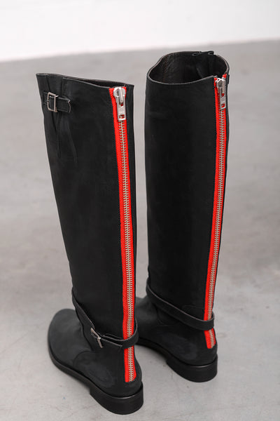 For Her Vit Boots - nero