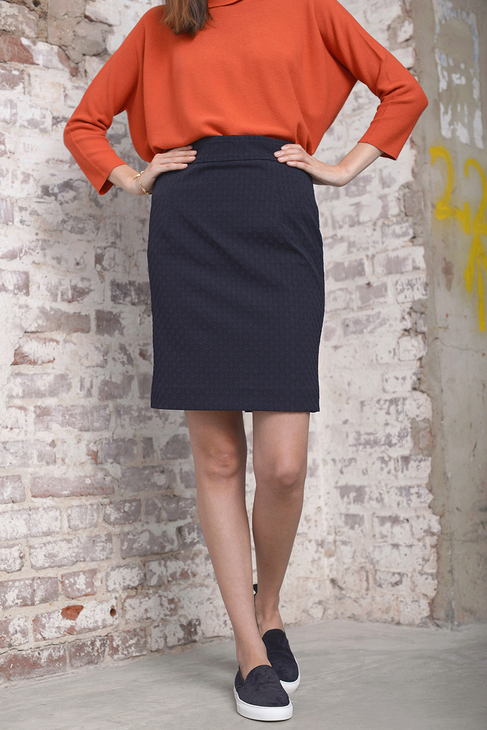 Galain 520 Skirt - notte - PREGO - made with love - Damenmode
