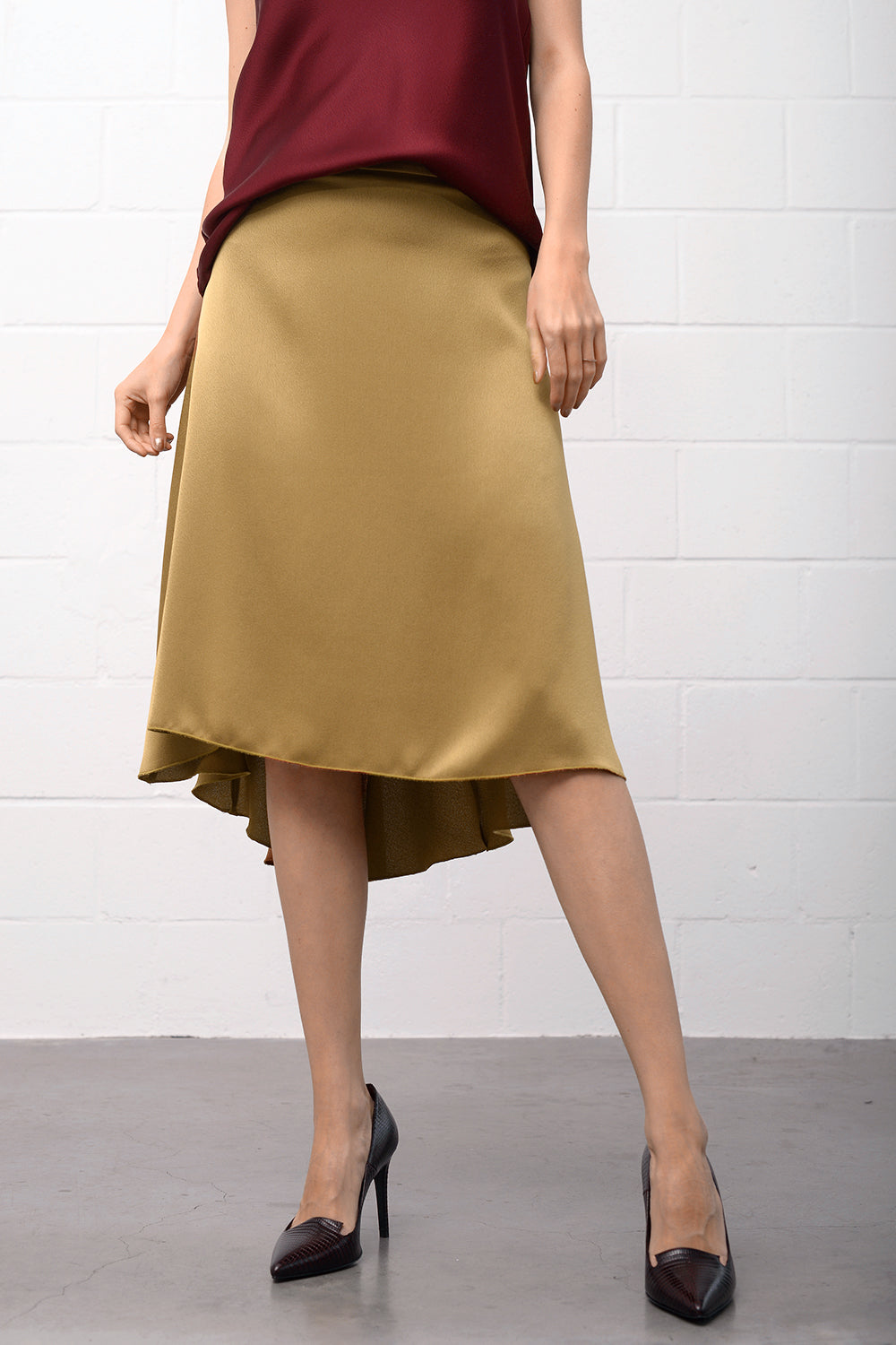 Ginella Skirt - oldgold