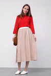 Grenoble Leinen Skirt - deserto