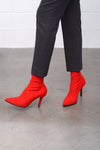 Lydia Lycra Str Boots - rosso