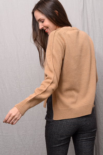 Malena Wool Cashmere Pull - camel
