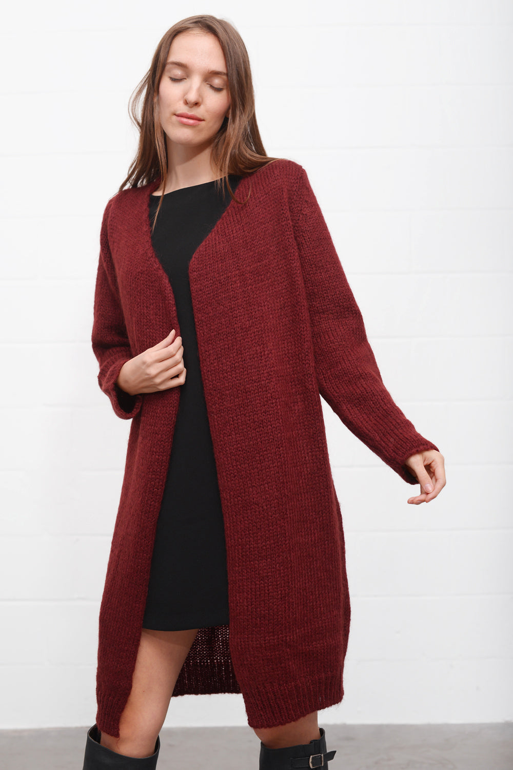 Mastice Strickcardigan - bordo