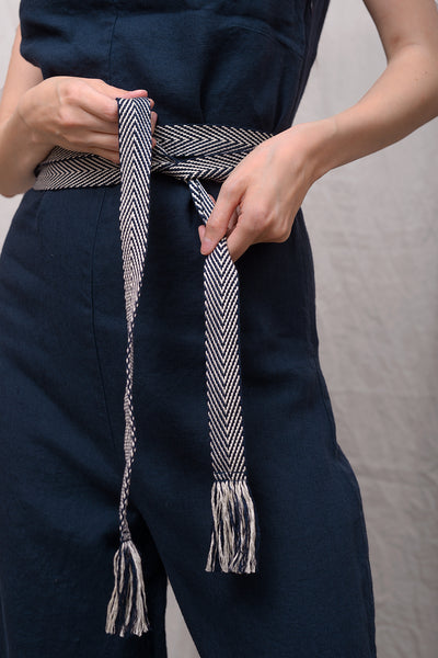 Mexican Belt - blu stripe