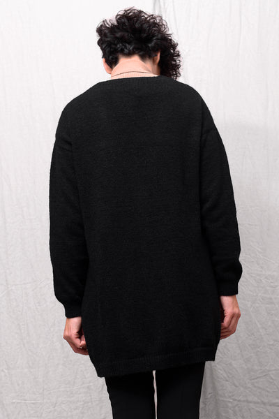 Noni Wool Cardigan - nero