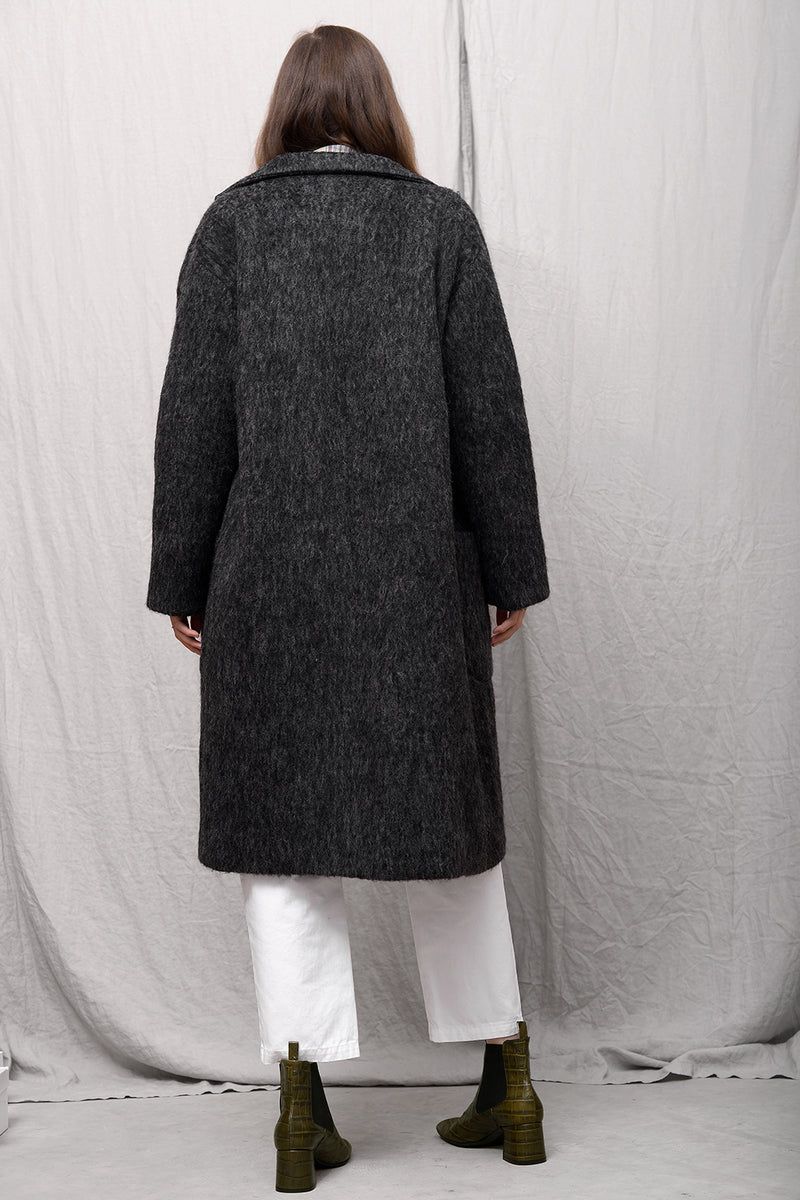 Odeya Wool Coat - charcoal