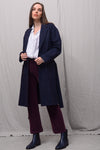 Olivia Wool Coat - navybrown