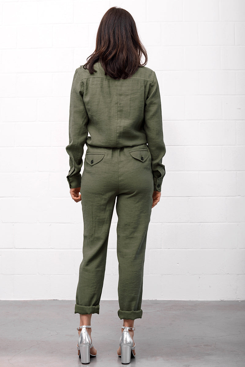 Trapper 854 Jumpsuit - oliva