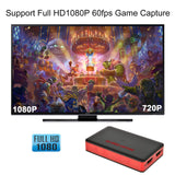 Capture Card, USB 3.0 HDMI HD Game Video Capture Card with HDMI Loop-Out Support 1080P 60FPS HDMI Video, Game Recorder Box Device Live Streaming for Windows Linux Os X System Xbox 360,Wii U,PC,OBS