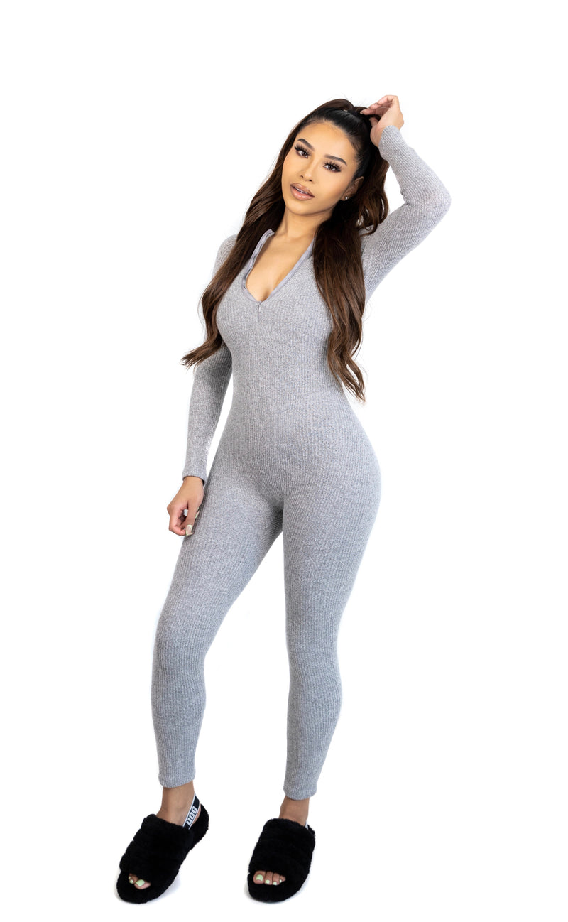 Play Date & Chill Jumpsuit (Grey)(Mommy)