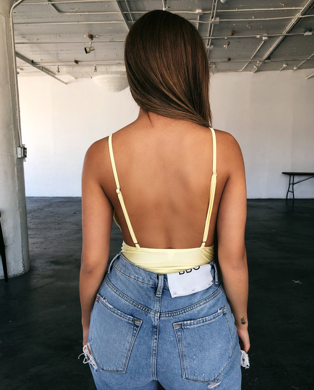Melly Cami Bodysuit(Yellow)